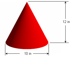 how to find radius of the net of a cone